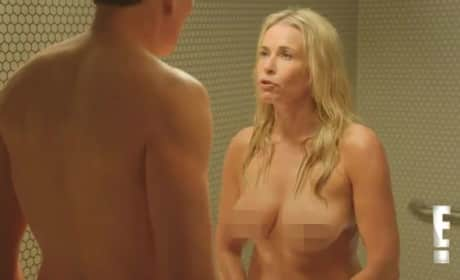 Conan O'Brien vs. Chelsea Handler: Nude Shower Fight!