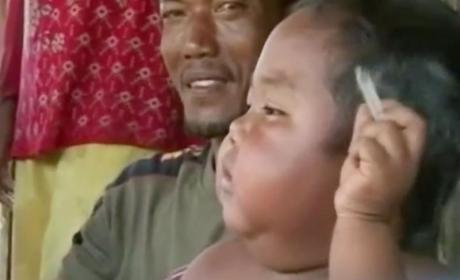 Aldi Rizal, Chain Smoking 2 Year Old, Now Weighs 56 Pounds