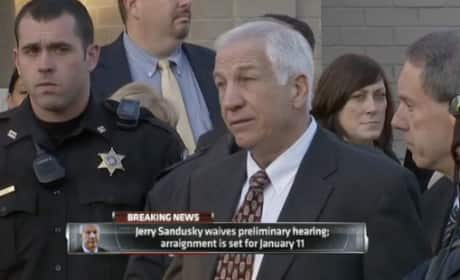 Jerry Sandusky Press Conference Pic