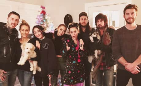 Liam Hemsworth With Miley Cyrus and Family