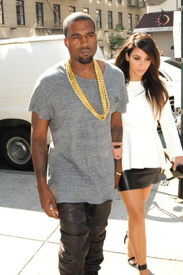 Kanye West and Kim Kardashian in Soho