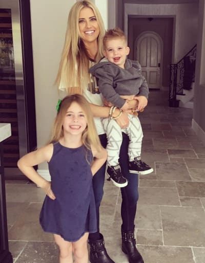 Christina El Moussa with Kids