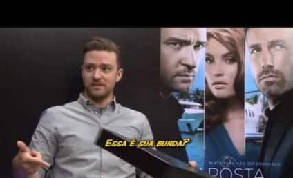 Justin Timberlake Autographs Mold of Reporter's Butt on Brazilian TV