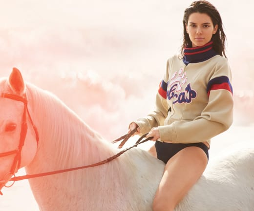 Kendall Jenner on a Horse