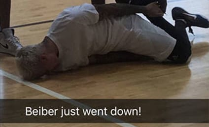 Justin Bieber SPRAINS Ankle in Basketball Accident!