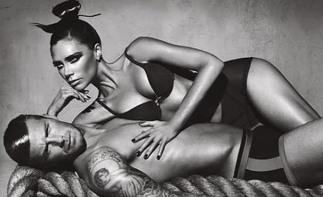 David and Victoria Beckham Underwear Ad