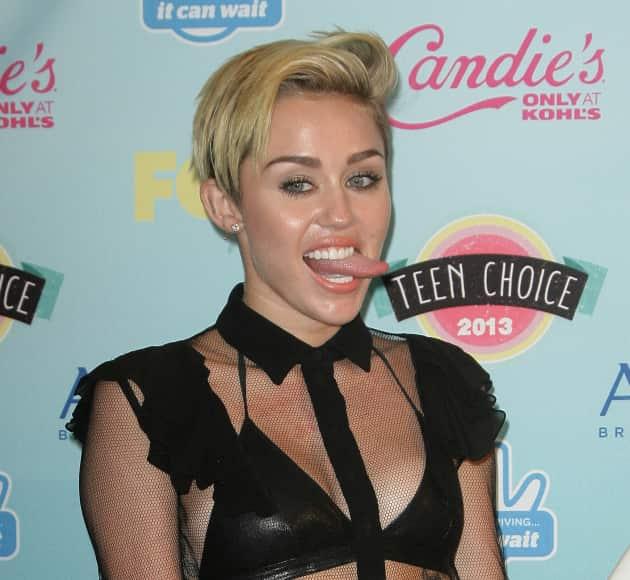 Miley Cyrus at The Teen Choice Awards