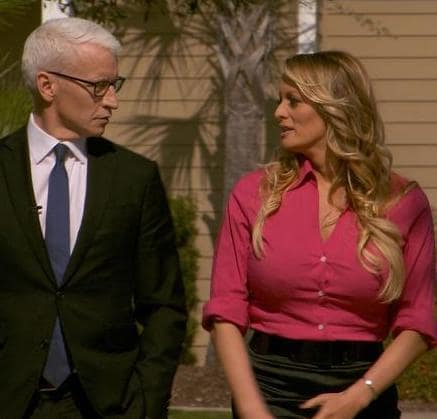 Anderson Cooper and Stormy Daniels