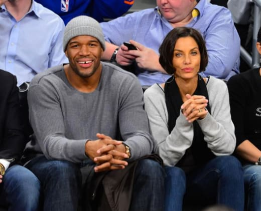 Michael Strahan and Nicole Murphy