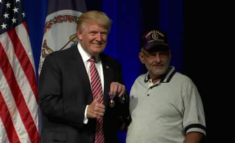 Donald Trump and a Veteran