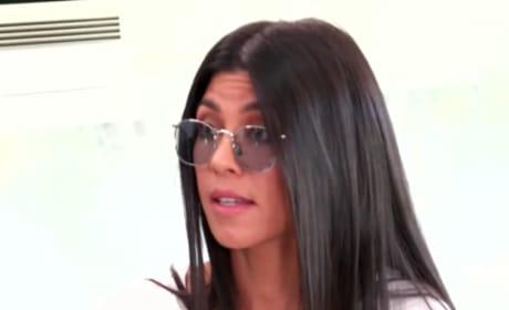 Kourtney Kardashian Has Lunch