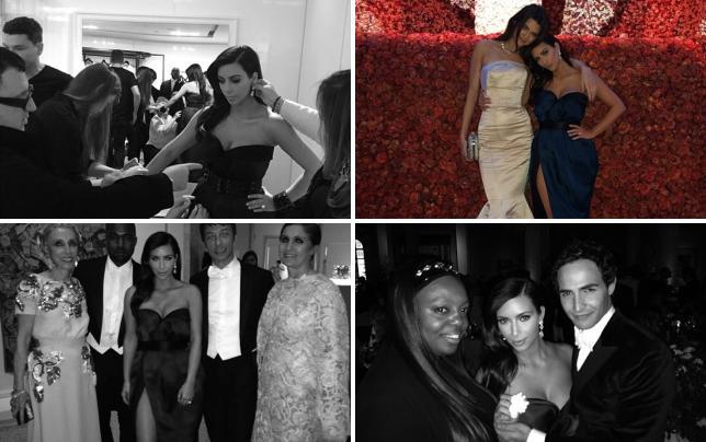 Kim kardashian behind the met scenes