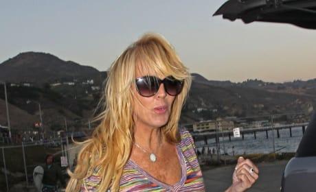 Dina Lohan on the Beach