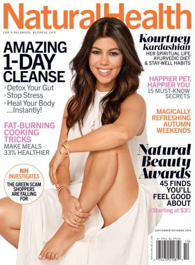 Kourtney Kardashian Natural Health Cover