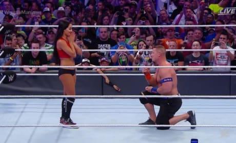 Nikki Bella and John Cena: Watch The Wrestlemania Proposal!