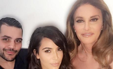 Kim, Caitlyn and Michael Costello
