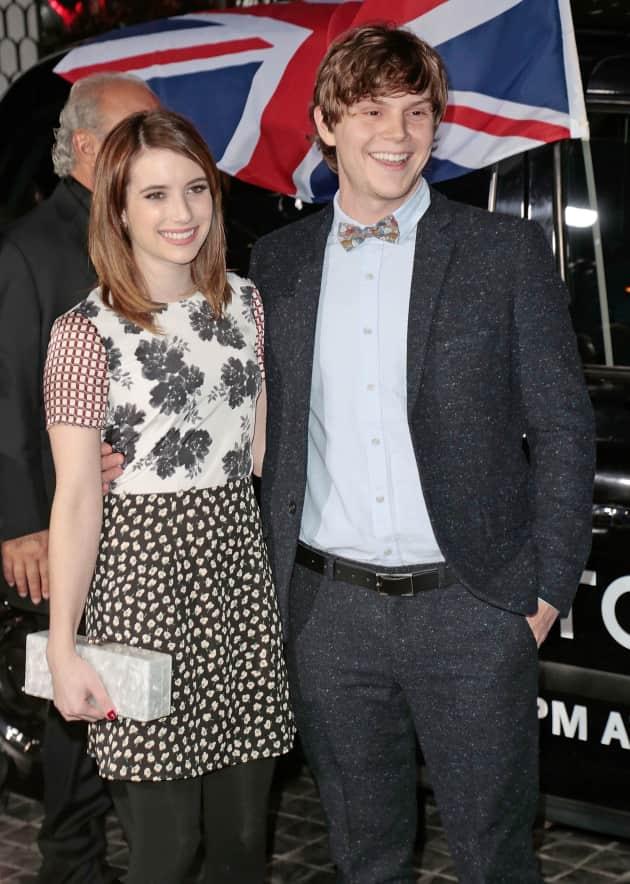 Evan Peters and Emma Roberts