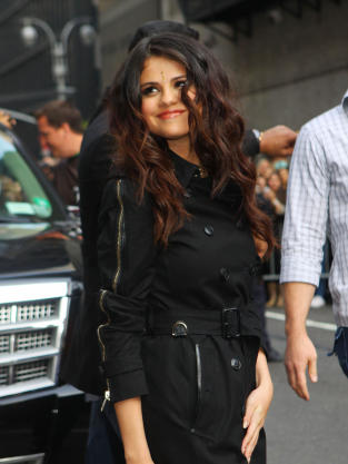Smirking Selena Gomez