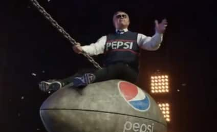 "Mike Ditka Spoofs ""Wrecking Ball"" for Pepsi Super Bowl Halftime Show Spot"