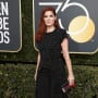 Debra Messing at the Globes