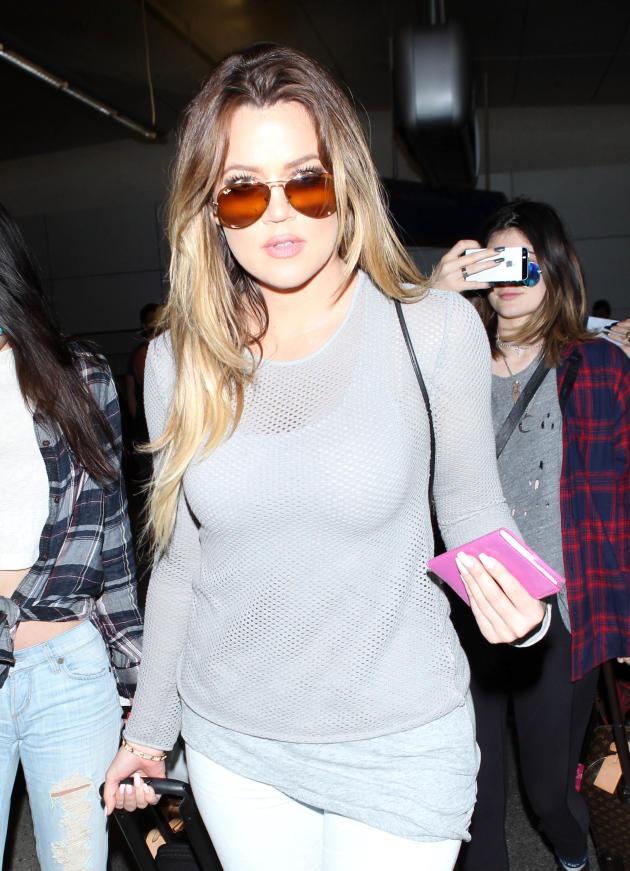 Khloe Kardashian in LAX