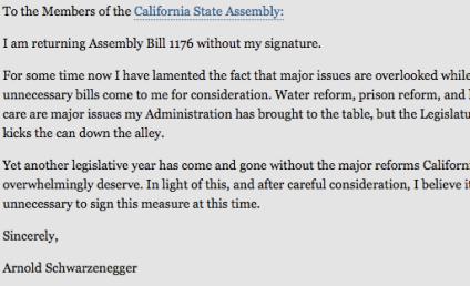 Obscene Message in Arnold Schwarzenegger Letter?