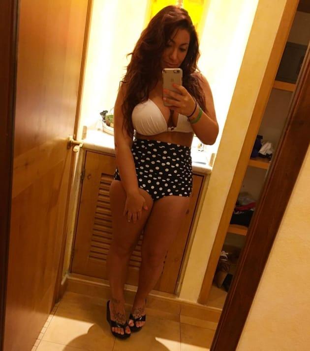 Deena Cortese Polka Dot Bathing Suit Bottom Pic
