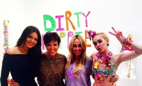 Miley Cyrus, Kendall Jenner and Their Moms