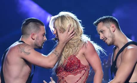 Britney Spears: Grabbed By Dancers at The 2016 Billboard Music Awards