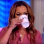 Sunny hostin drinks tea on the view