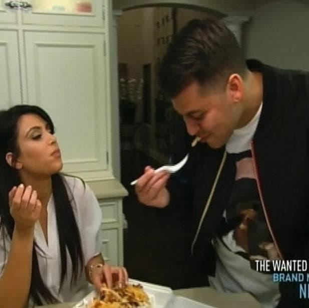 Rob and Kim Kardashian Instagram Photo