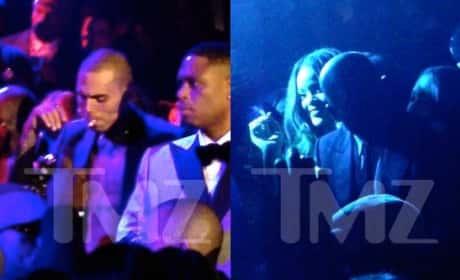 Chris Brown and Rihanna Smoking