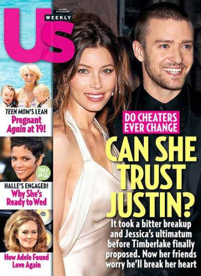 Justin Timberlake-Jessica Biel Us Cover