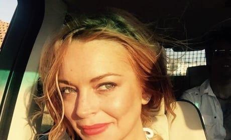 Lindsay Lohan Summer Selfie