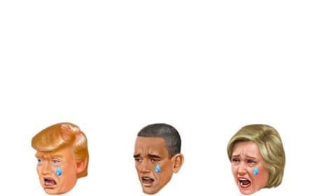 Donald Trump, Barack Obama and Hillary Clinton Kimojis