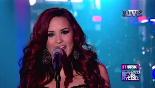 Demi Lovato on New Year's Eve