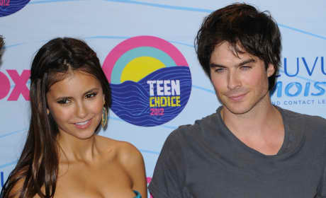 Ian Somerhalder and Nina Dobrev Image