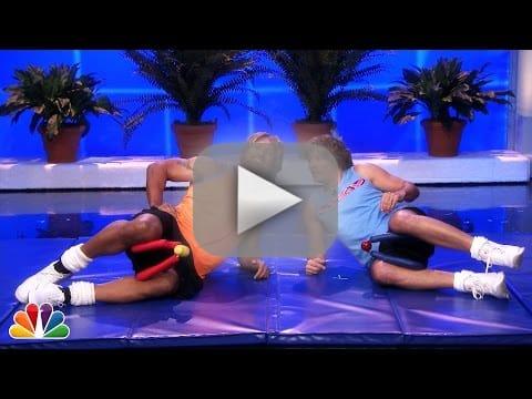 Jimmy Fallon and Dwayne Johnson Workout Video