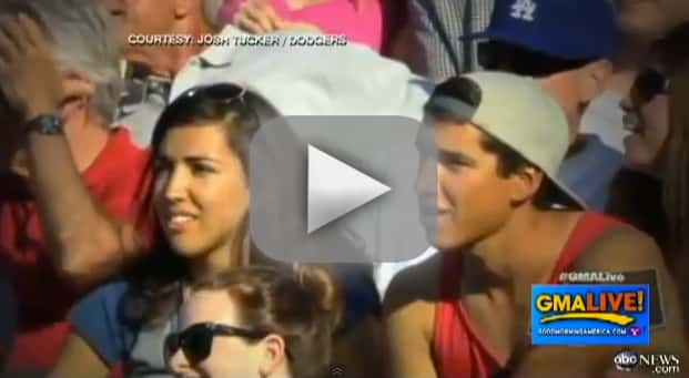 Brother and Sister Caught on Kiss Cam