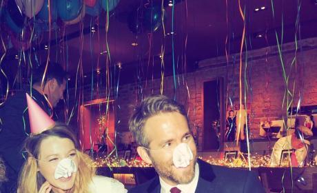 Blake Lively Ryan Reynolds birthday photo