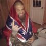 David Eason in Confederate Flag
