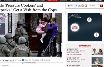Police Visit Couple Over Pressure Cooker, Backpack Google Searches