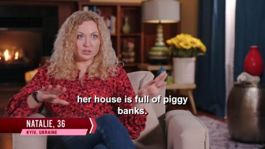 Natalie Mordovtseva - her house is full of piggy banks