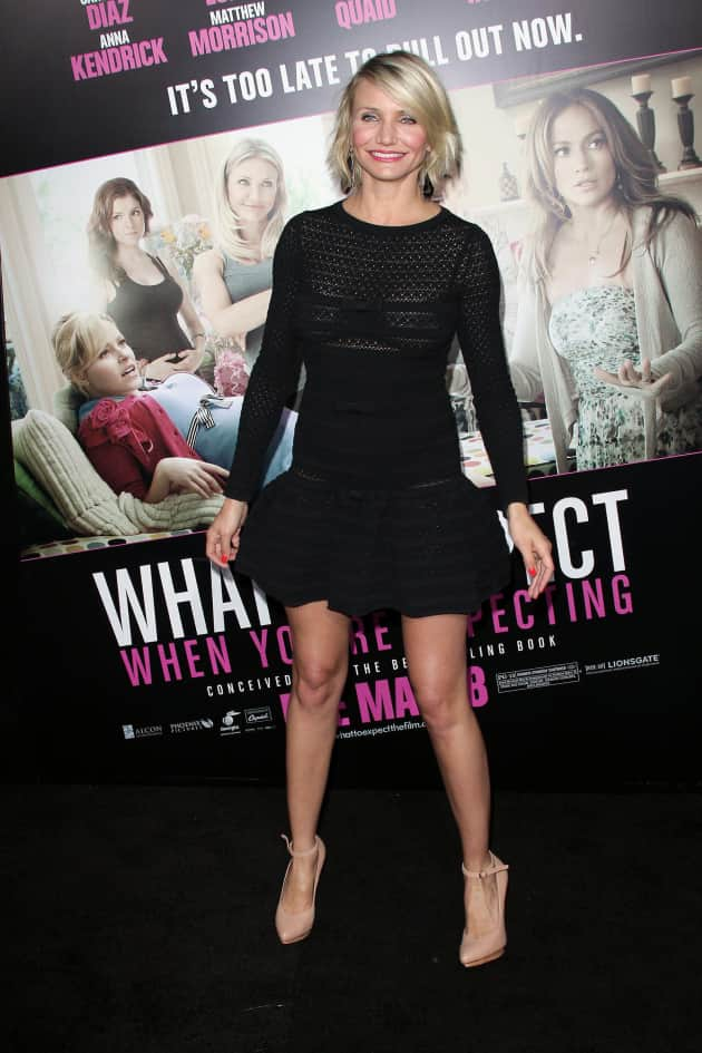 Cameron Diaz long sleeve dress photo
