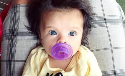 This Baby is 2 Months Old. And This is Her Real Hair.