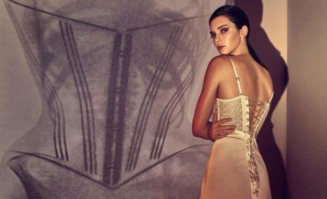 Kendall Jenner models dress