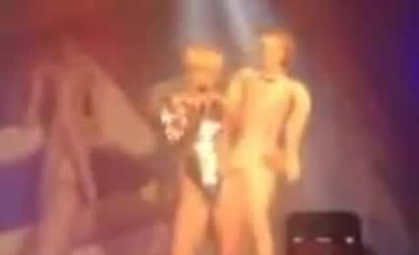 Miley Cyrus Gives Blowup Doll Blow Job