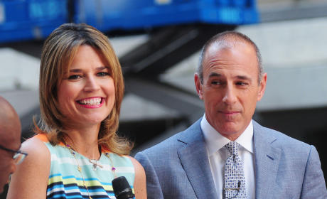 Matt Lauer and Savannah Guthrie
