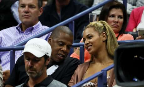 Beyonce and Jay-Z at the U.S. Open
