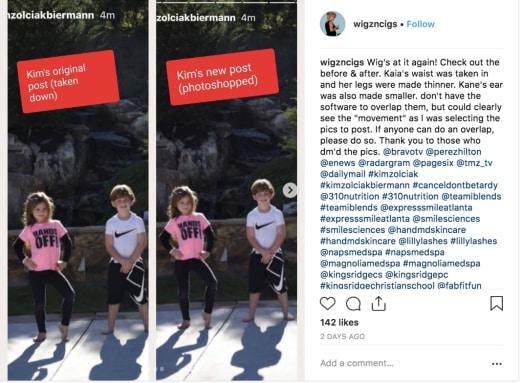 Kim Zolciak kids photoshop accusation